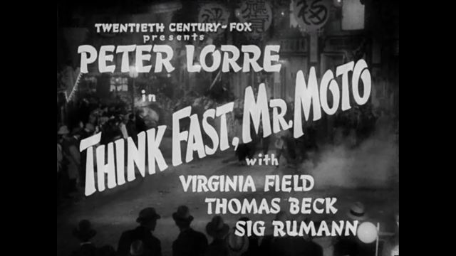 Think Fast, Mr. Moto - Title Screen