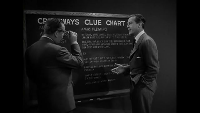 The Big Clock - The blackboard of clues